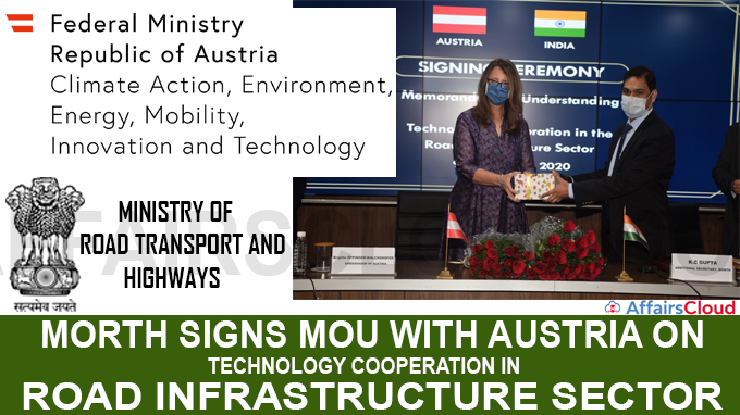 MoRTH signs MoU with Austria on technology cooperation