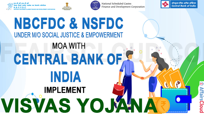 NBCFDC & NSFDC MoA With Central Bank of India