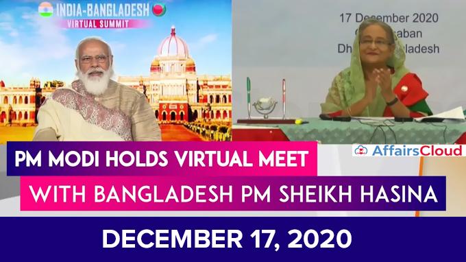 PM-Modi-holds-India-Bangladesh-Virtual-Summit-on-december-17,-2020