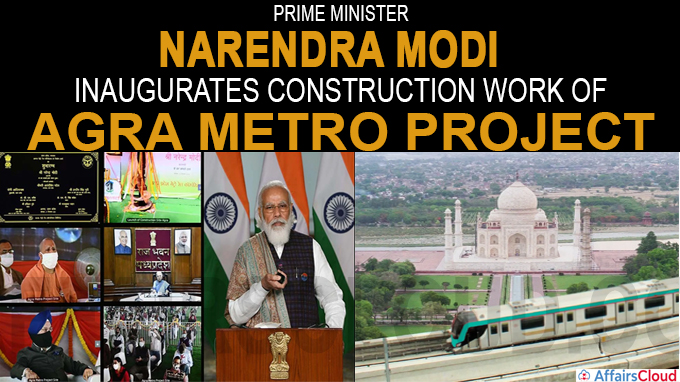 PM inaugurates construction work of Agra Metro project in Agra