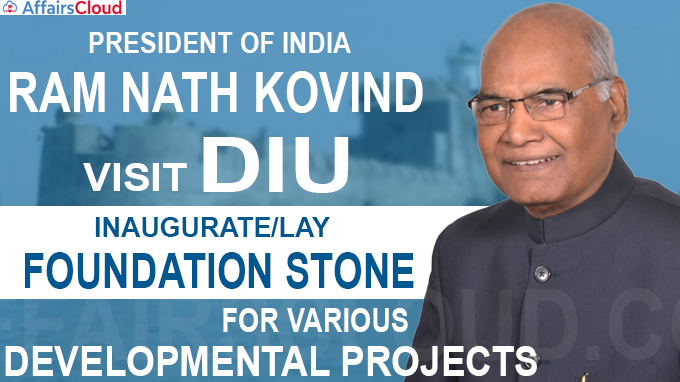 President of India Visited Diu from December 25 to 28