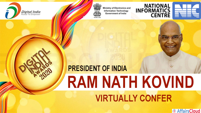 President of India virtually confers the Digital India Awards 2020