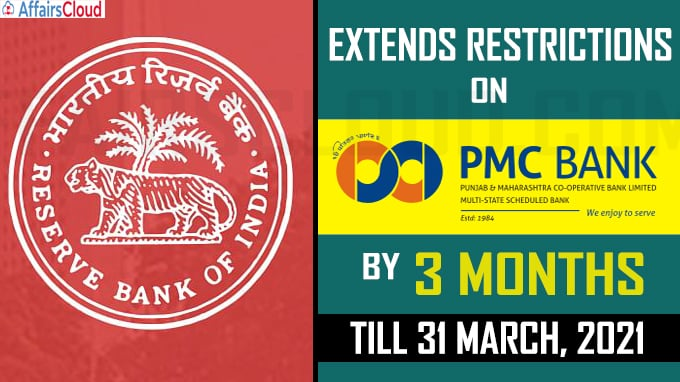 RBI extends restrictions on PMC Bank by 3 months