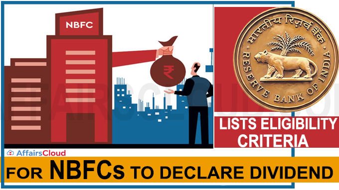 RBI lists eligibility criteria to declare dividend