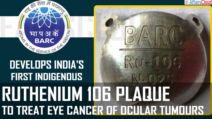 Ruthenium 106 Plaque to treat Eye cancer