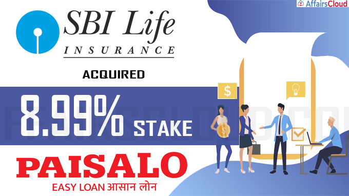 SBI Life Insurance acquires 8-99% stake in Paisalo Digital