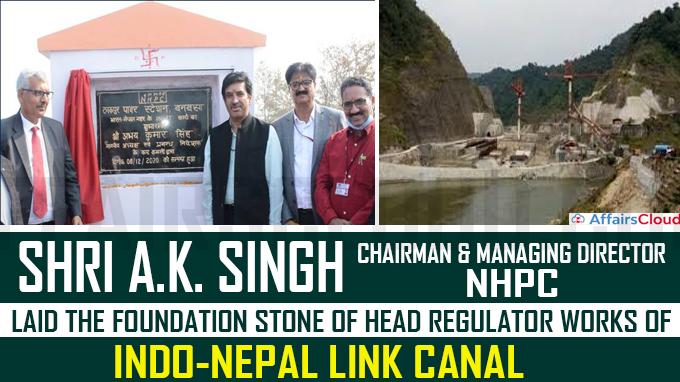 Shri A K Singh CMD, NHPC lays the foundation stone new