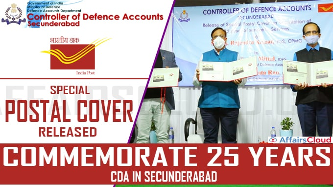 Special Postal Cover Released To Commemorate 25 Years Of CDA In Secunderabad