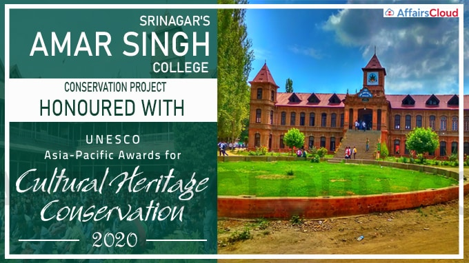 Srinagar's Amar Singh College Conservation Project honoured with UNESCO Asia-Pacific Awards