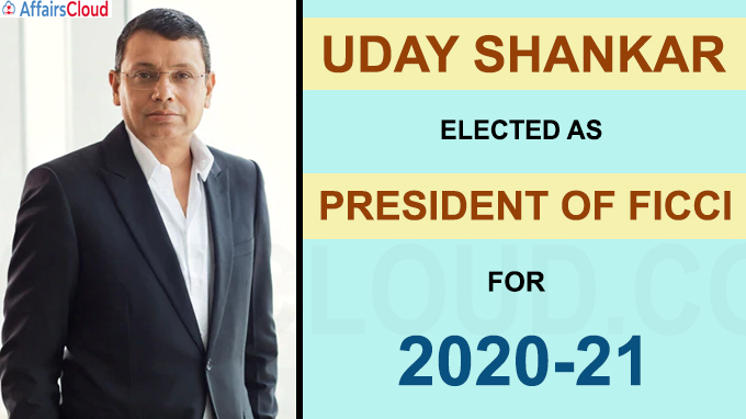Uday Shankar is President-elect of FICCI