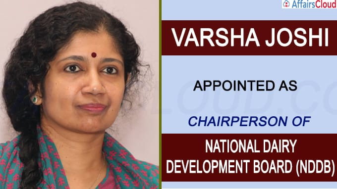 Varsha Joshi named Chairperson of NDDB