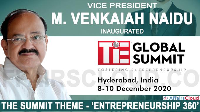 Vice President inaugurates the IndUS Entrepreneurs Global Summit-2020