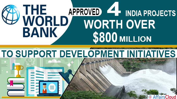 World Bank Approves Four India Projects Worth over $800 million