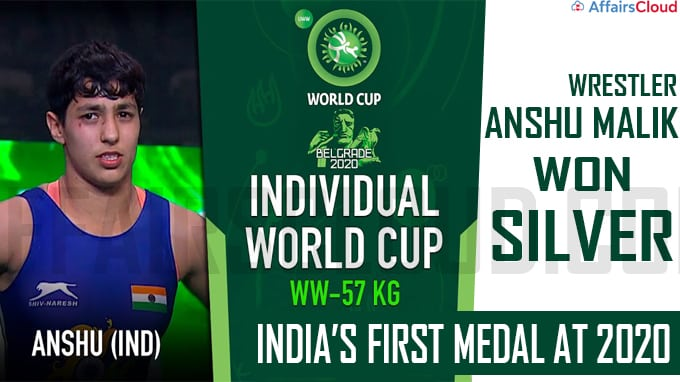 Wrestler Anshu Malik clinches silver, India's first medal at 2020