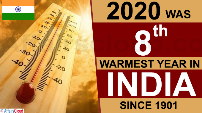 2020 was 8th warmest year in India since 1901