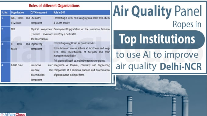 Air quality panel ropes in top institutions