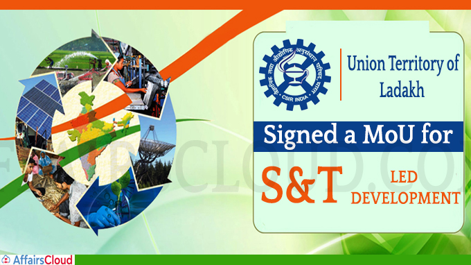 CSIR Signed a MoU for S&T Led Development