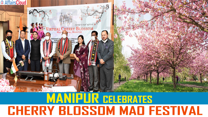 Cherry Blossom Mao Festival held today in Manipur