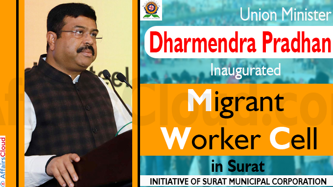 Dharmendra Pradhan inaugurates migrant worker cell in Surat