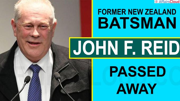 Former NZ test batsman John F Reid dead at 64