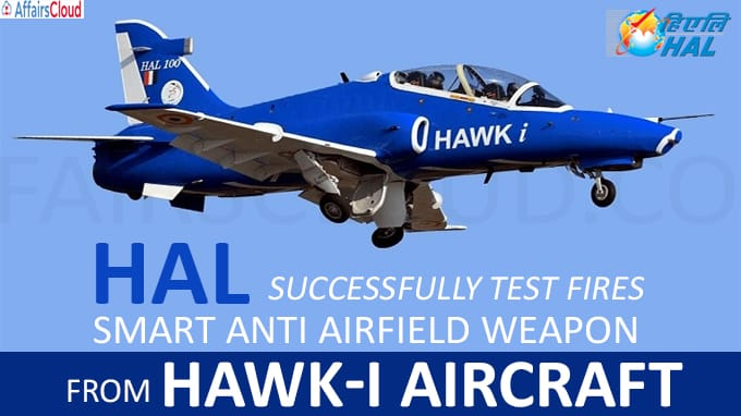 HAL successfully test fires Smart Anti Airfield Weapon from Hawk-i aircraft