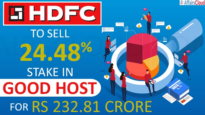 HDFC to sell 24 48 pc stake in Good