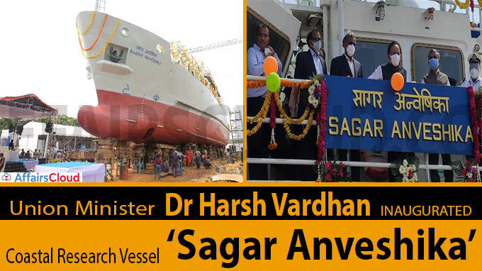 Harsh Vardhan inaugurates Coastal Research Vessel Sagar Anveshika