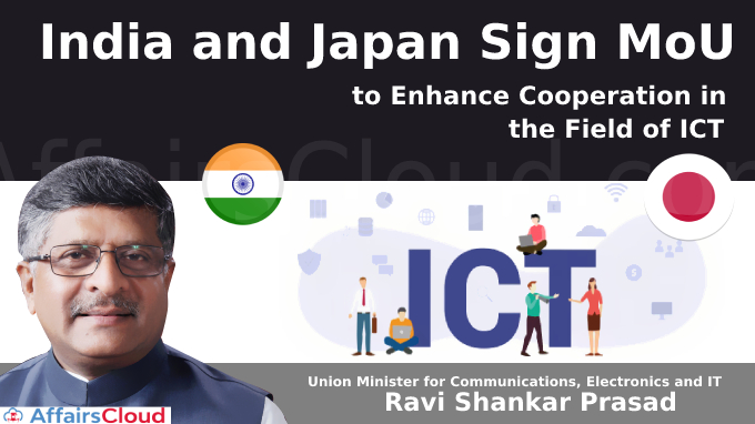 India and Japan Sign MoU to Enhance Cooperation in the Field of ICT