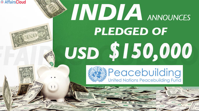 India announces pledge of USD 150,000