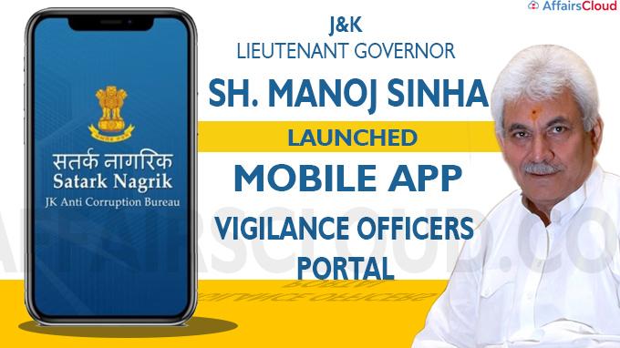 J&K LG launches Mobile App Satark Nagrik