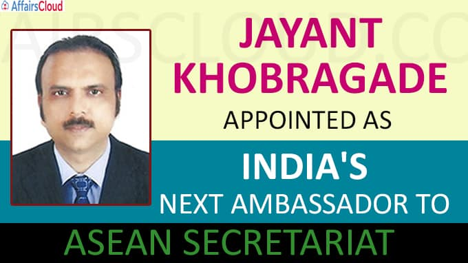 Jayant Khobragade appointed India's next Ambassador to ASEAN Secretariat