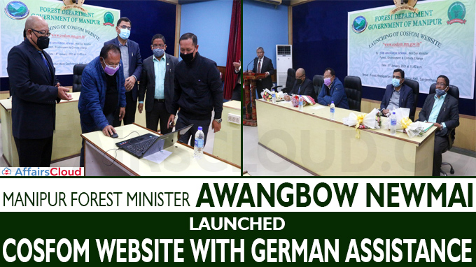 Manipur Forest Minister Awangbow Newmai launches COSFOM Website