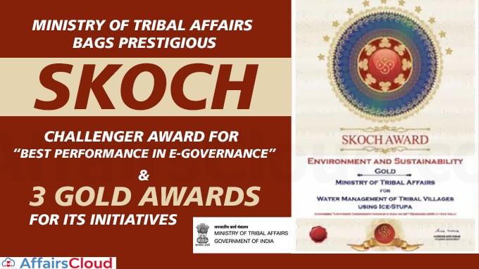 Ministry-of-Tribal-Affairs-Bags-Prestigious-SKOCH-Challenger-Award