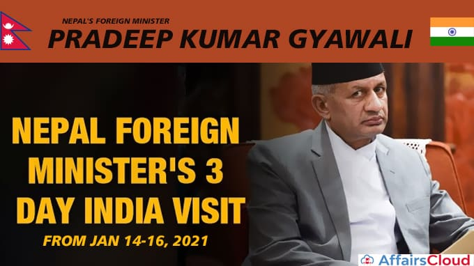 Nepal's-foreign-minister-Pradeep-Kumar-Gyawali-three-day-visit-to-India