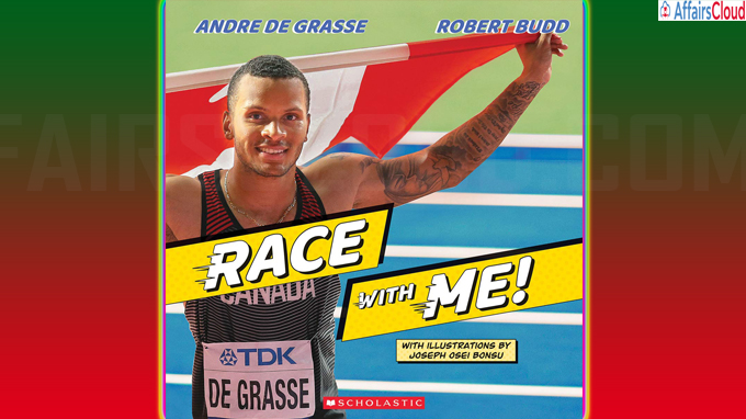 Olympian Andre De Grass pens picture book Titled