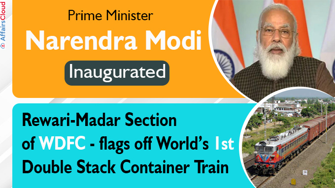 PM Modi dedicates to nation new Section of Western Dedicated Freight Corridor new