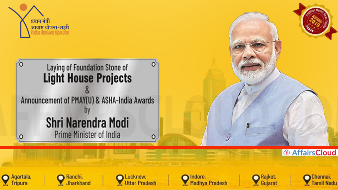 Prime Minister lays foundation stone of 6 light house projects