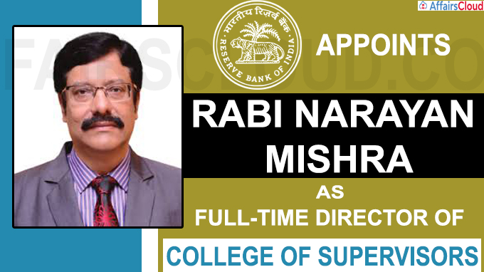 RBI appoints full-time director of College of Supervisors