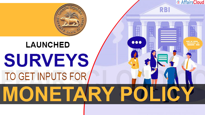 RBI launches surveys to get inputs for monetary policy