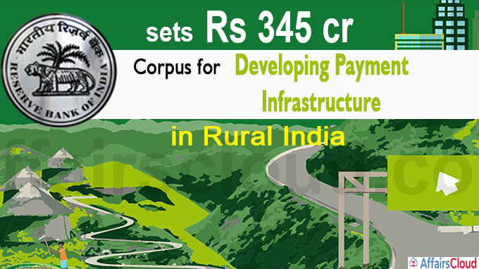 RBI sets Rs 345 crore corpus for developing payment infrastructure