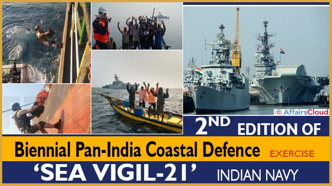 Second edition of the biennial pan-India coastal defence exercise 'Sea Vigil-21'