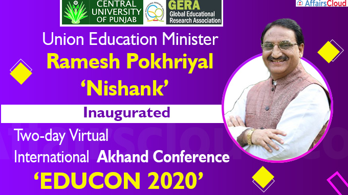 Union Education Minister inaugurates two-day Virtual International Akhand