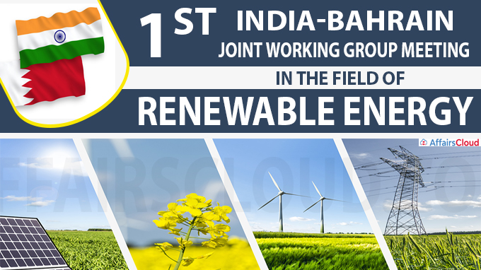 1st India-Bahrain Joint Working Group meeting