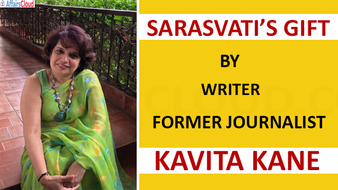 A book titled Sarasvati Gift by writer and former journalist Kavita Kane