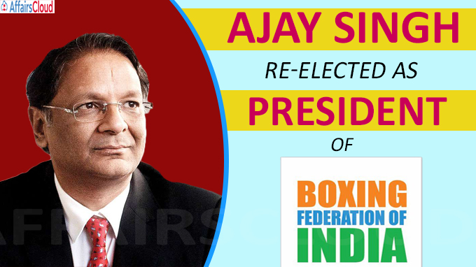 Ajay Singh re-elected as president of Boxing Federation of