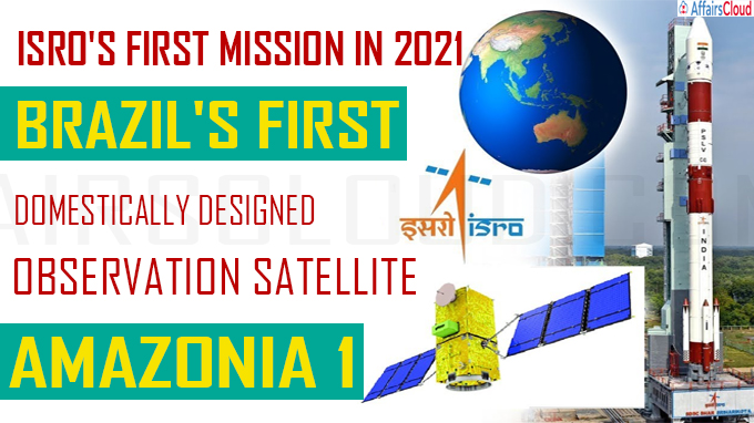 Brazilian, Indian startup satellite in ISRO's first mission in 2021