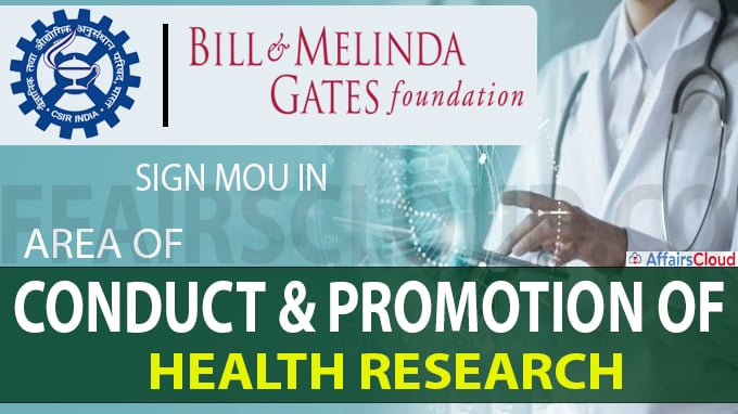 CSIR and Bill & Melinda Gates Foundation sign MoU in area of health research