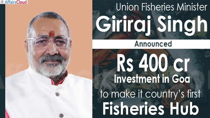 Centre to develop Goa into country's first fisheries hub