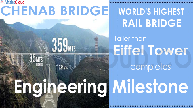 Chenab bridge, world's highest rail bridge taller than Eiffel Tower