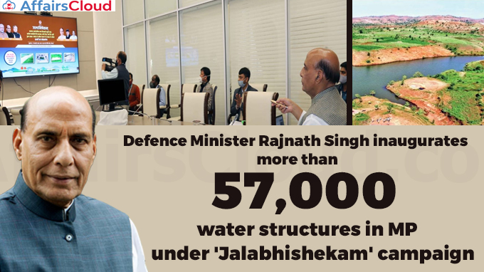 Defence-Minister-Rajnath-Singh-inaugurates-more-than-57,000-water-structures-in-MP-under-'Jalabhishekam'-campaign